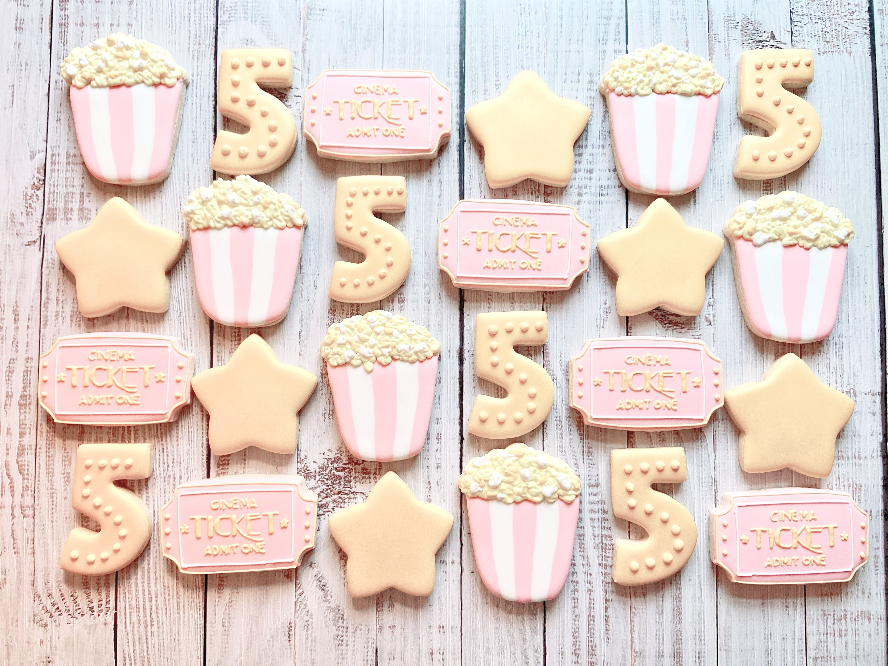 Movie Birthday Cookies