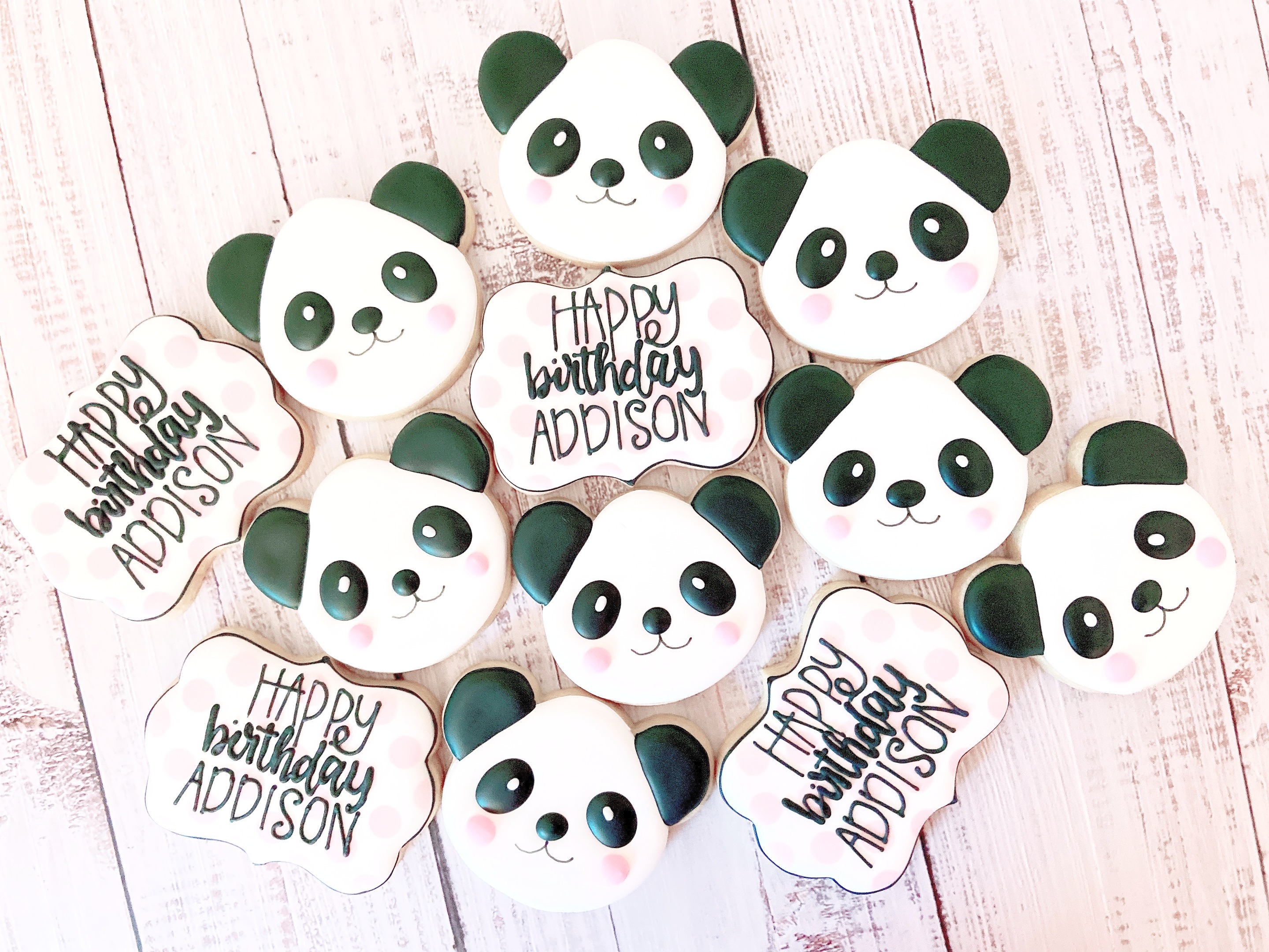 Panda Birthday Cookies