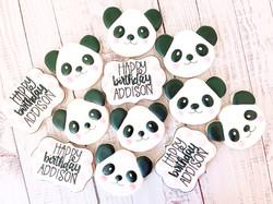 Panda Birthday Cookies