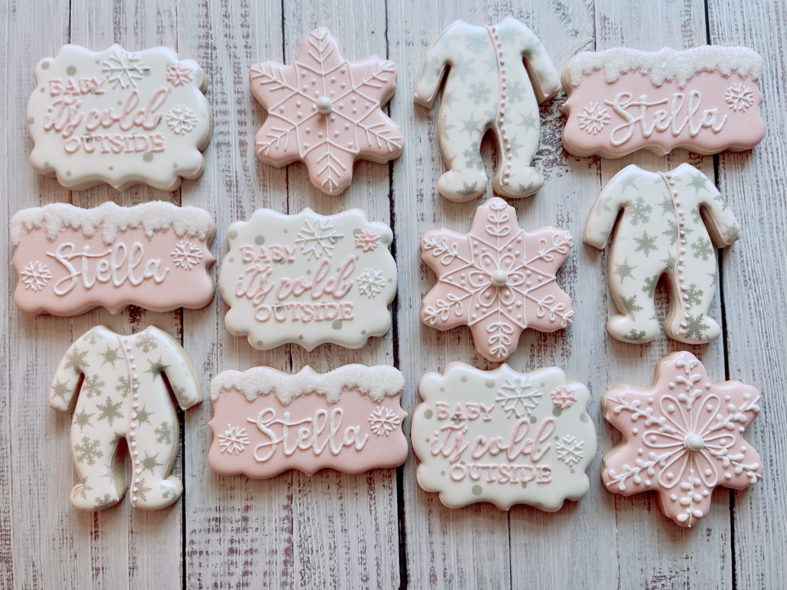 Winter Baby Shower Cookies