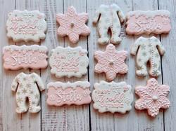 Winter Baby Shower Cookies
