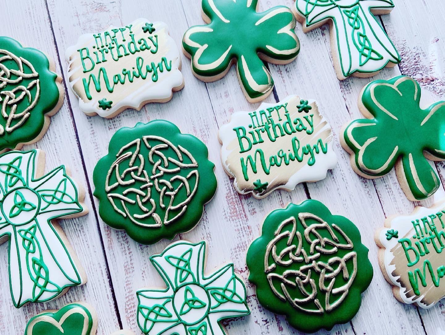 Irish Birthday Cookies