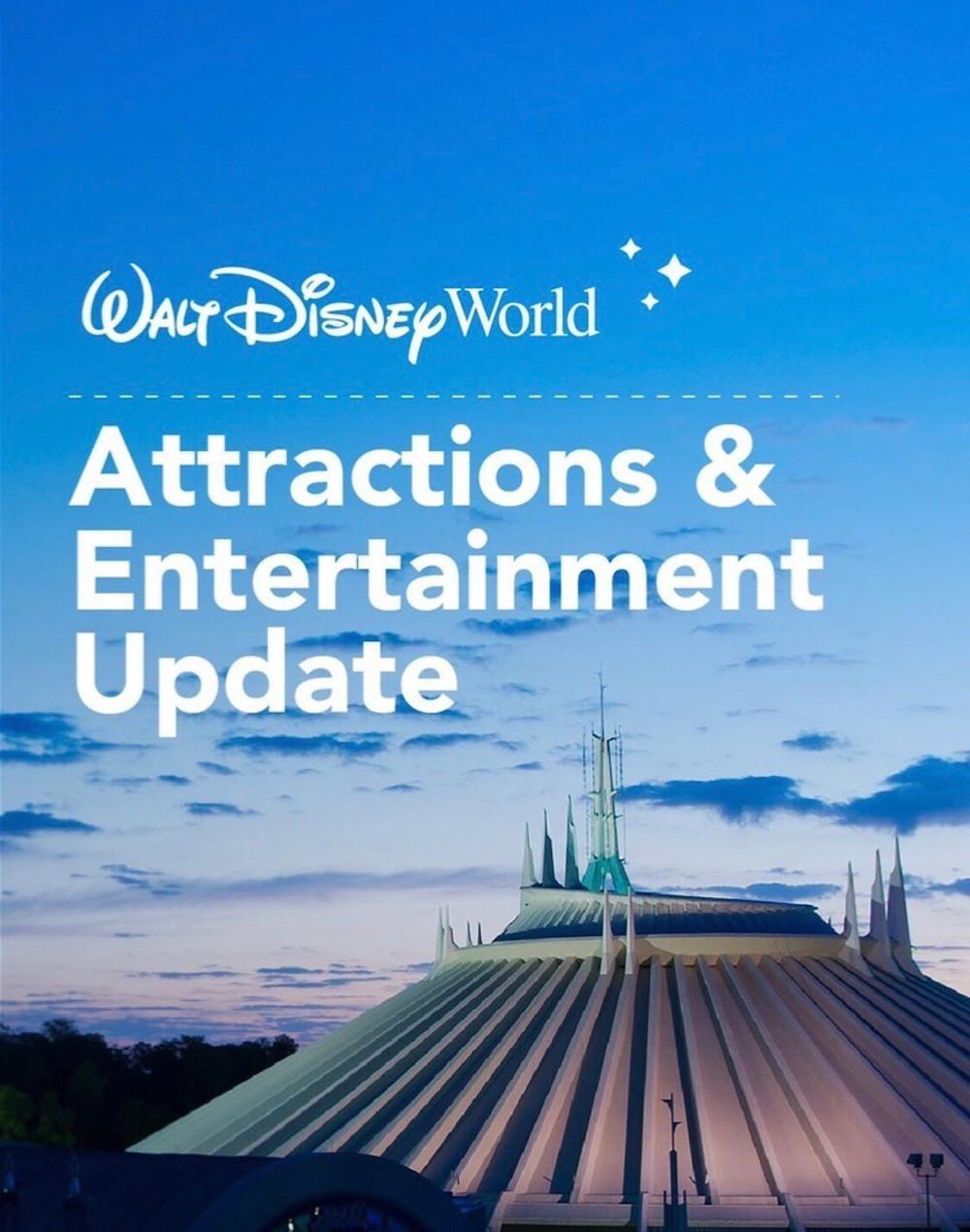 Atrações que estarão abertas nos parques de Walt Disney World
