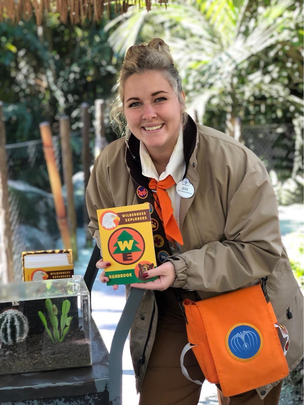 Cast Member do Wilderness Explorers no parque Animal Kingdom
