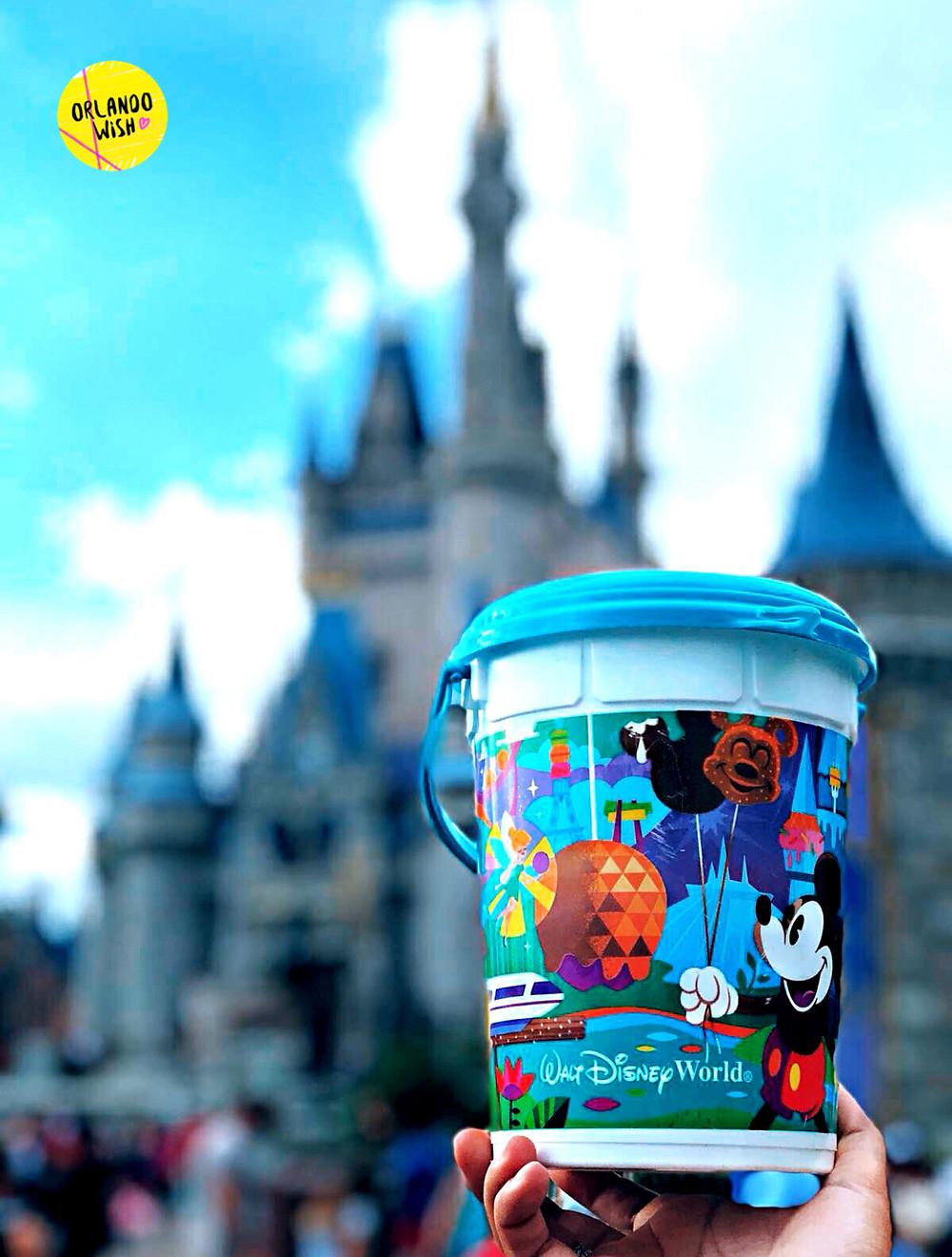 Balde e refil de pipoca na Disney