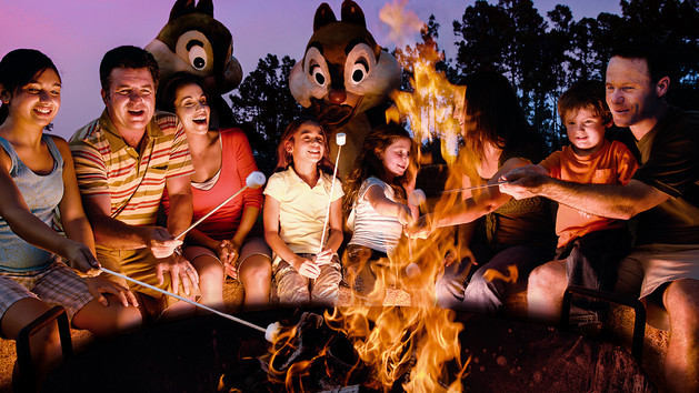 chip and dale campfire wdw