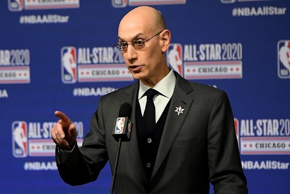 Adam Silver comissário NBA fala de reabertura dos jogos em Orlando