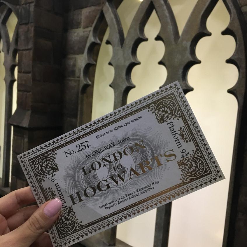 Ticket de Londres para Hogwarts