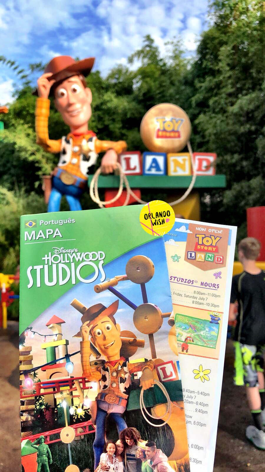 Guide Map Toy Story Land