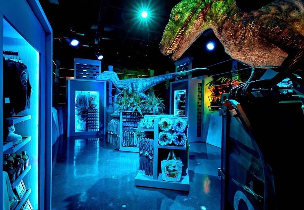 Nova loja Jurassic World no parque universal
