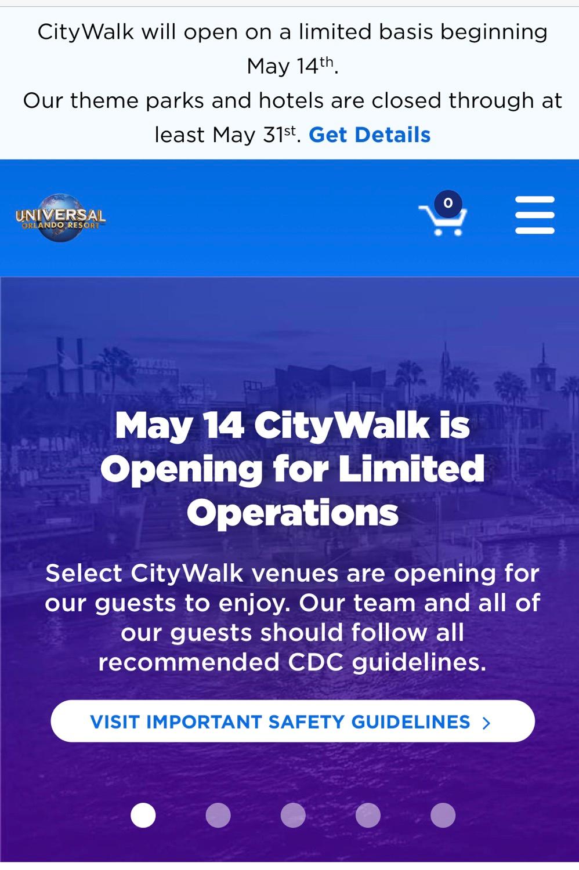 Reabertura dos parques em Orlando