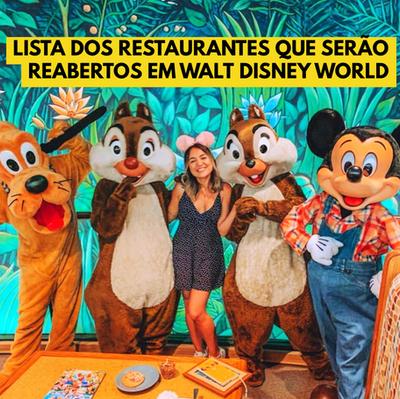Restaurantes que estarão abertos na reabertura de Walt Disney World