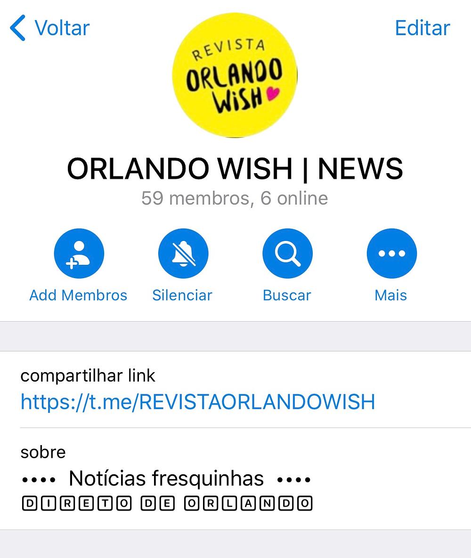 Orlando Wish no Telegram