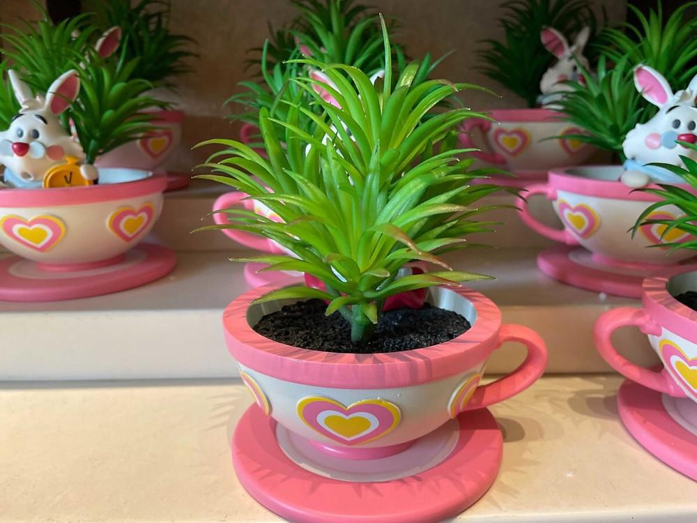 White Rabbit Mad Tea Party Plant Pot