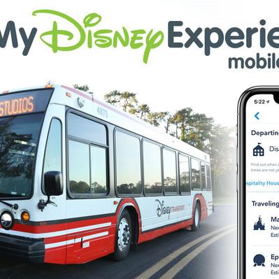 Descubra o tempo de espera do seu ônibus com o My Disney Experience App