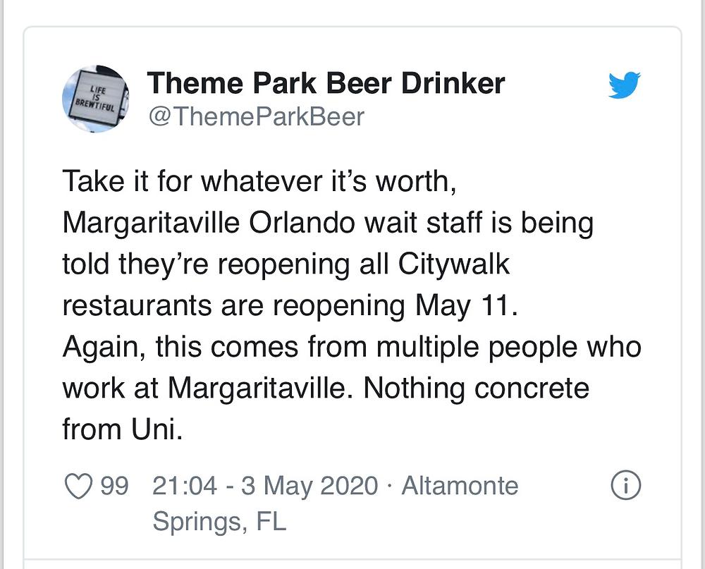 Universal CityWalk abre em 11 de maio
