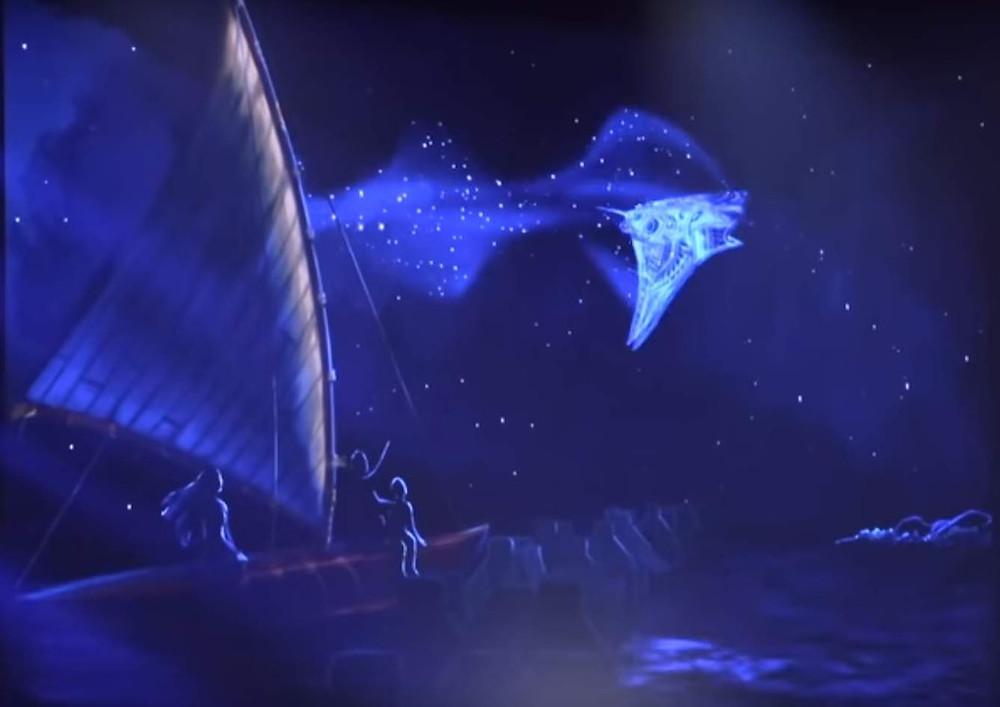 Imagem conceitual da atração Spaceship Earth no Epcot