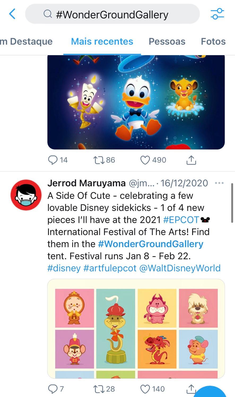 Imagens das obras dos artistas no Festival of the arts 2021