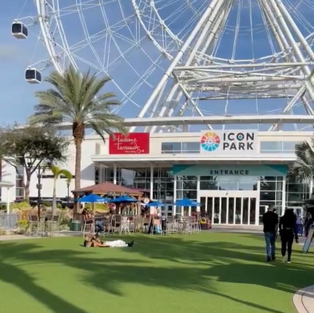 Area central do ICON Park Orlando