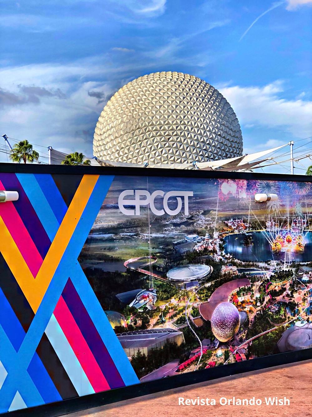 Spaceship Earth, no Epcot, entrará em reforma a partir do dia 26 de maio