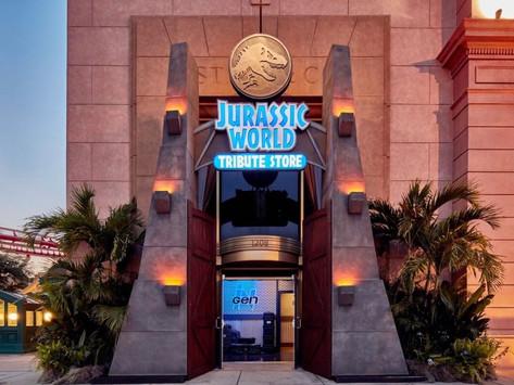Nova loja Jurassic World na Tribute Store no parque Universal