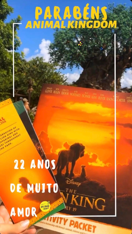 Aniversário Animal Kingdom e Dia da Terra