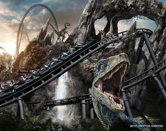Nova montanha-russa Jurassic World VelociCoaster da Universal