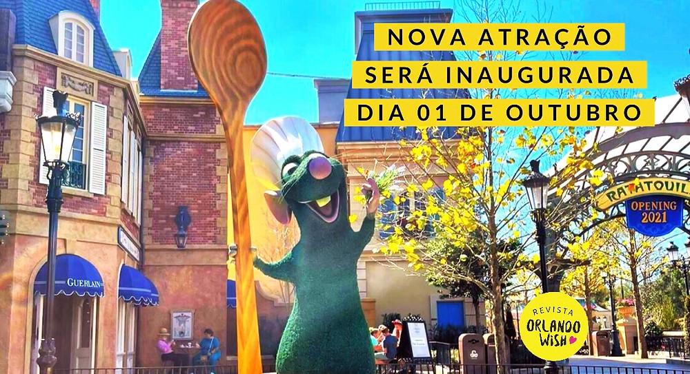 Remy's Ratatouille Adventure será inaugurada no dia 01 de outubro