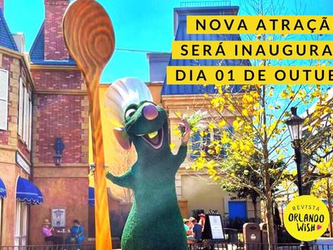 Nova atração Remy's Ratatouille Adventure inaugura dia 01 de outubro de 2021