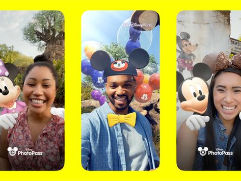 Novo filtro Disney no Snapchat comemorativo dos 50 anos de Walt Disney World