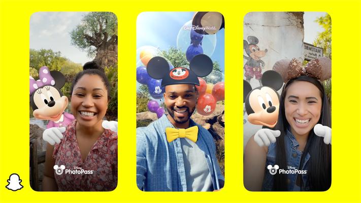 Disney filtros snapchat