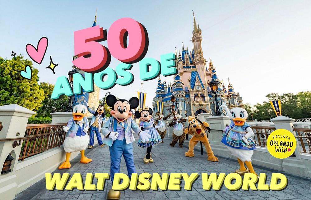 Novidades na festa de 50 anos de Walt Disney World