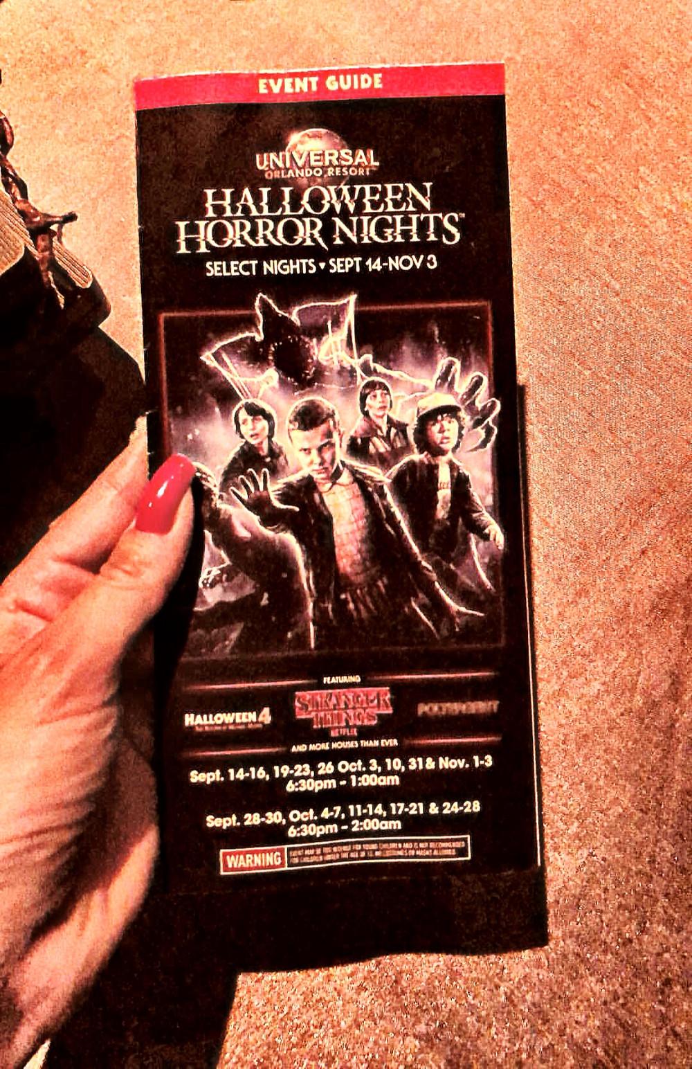 Halloween Horror Nights mapa