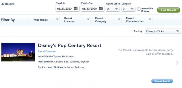 Walt Disney World resorts | Reservas a partir de julho