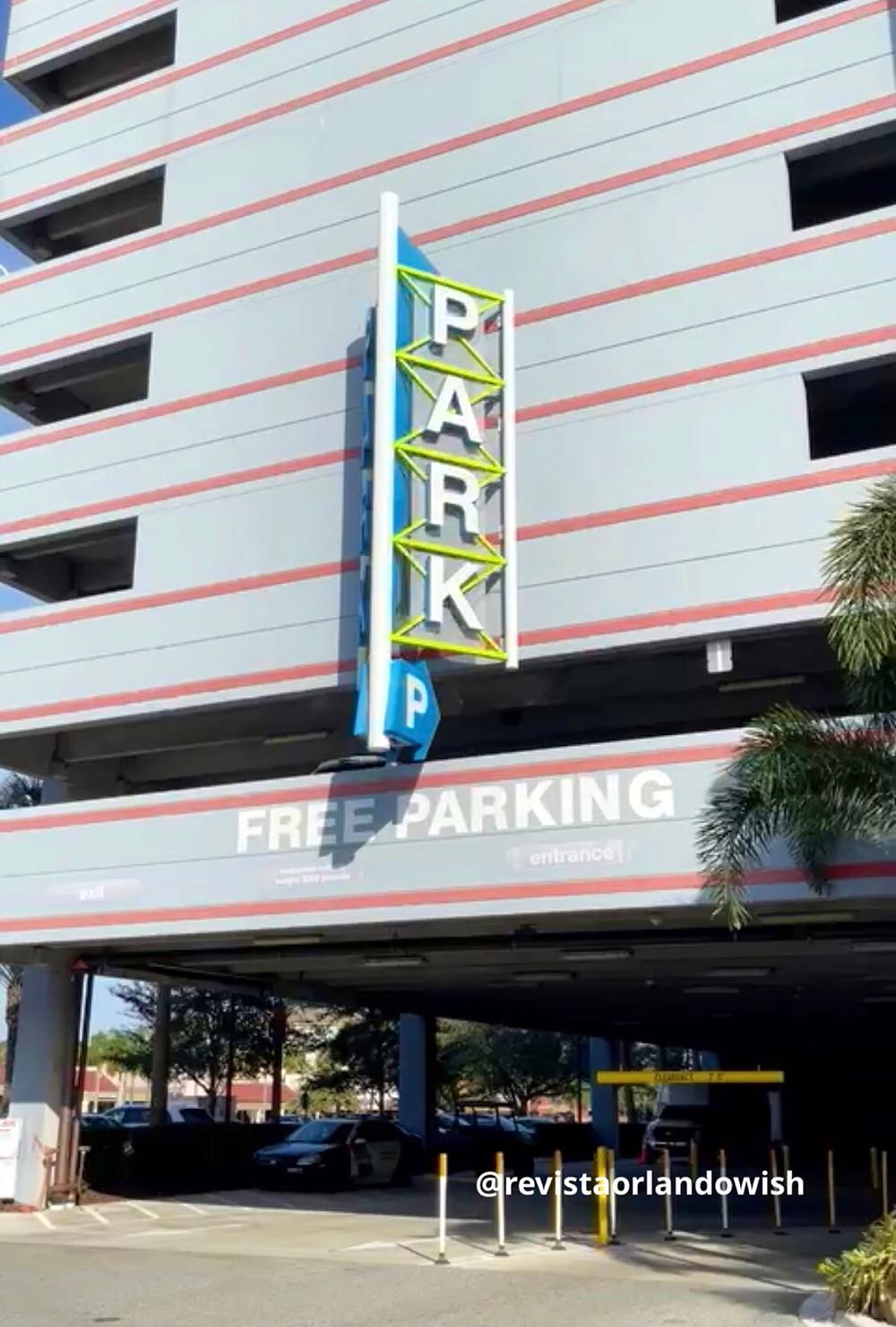 estacionamento gratuito em Orlando