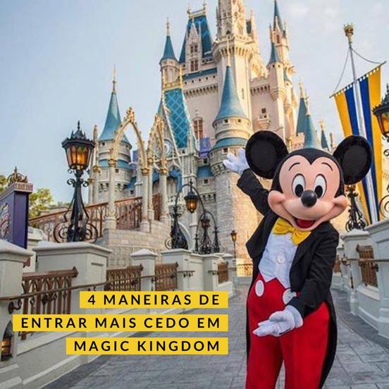 É possível entrar no Magic Kingdom 1h antes da abertura do parque?