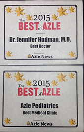 Azle Pediatrics, Jennifer Hudman MD, Board Certified Pediatrician serving Parker, Tarrant and Wise Counties.  We are located in Azle, Texas just northwest of Fort Worth.