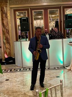 Spotlight on the Sax man