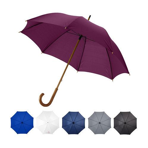 """Jova 23"""" Regenschirm mit Holzstange und -griff"""
