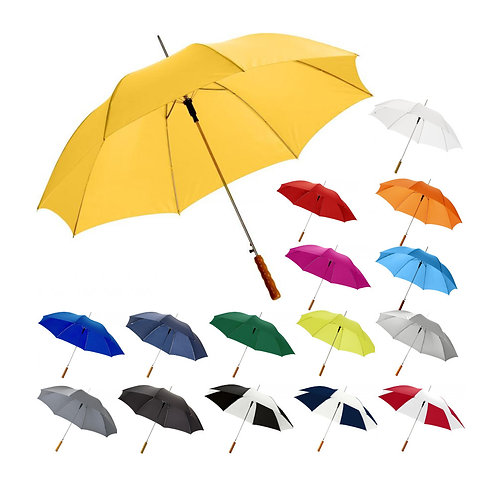 "Lisa 23"" Automatikregenschirm mit Holzgriff"