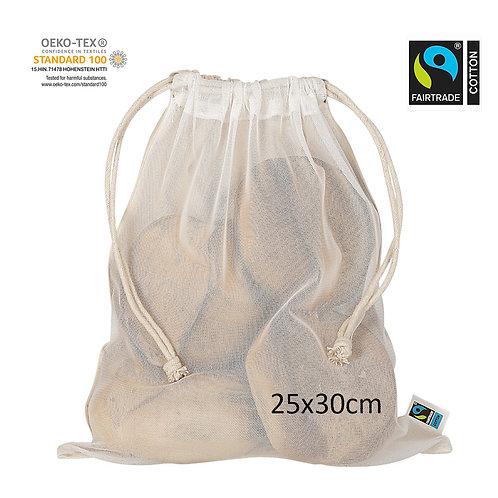Netzbeutel aus Fairtrade-Baumwolle&PET