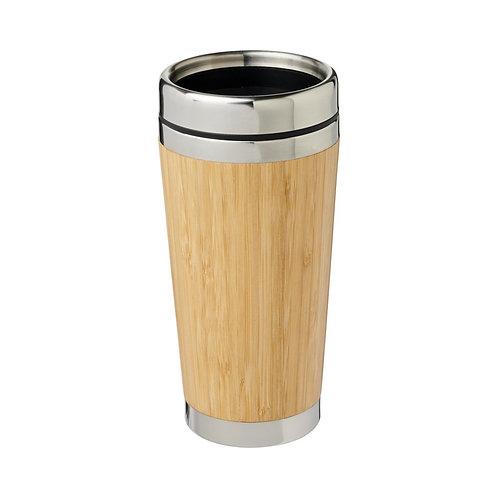 Bambus 450 ml Becher mit Bambus-Außenseite