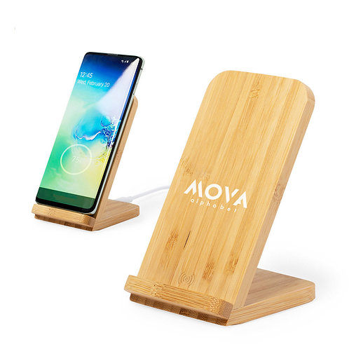 Ladegerät Dimper - Wireless Bamboo Charger