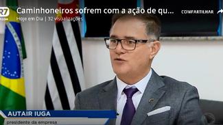 Reportagem na TV Record sobre o roubo de cargas e a Escolta Armada com a presença do Presidente Iuga