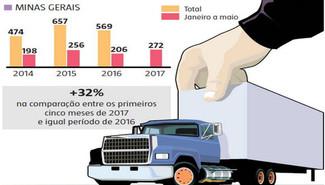 Cresce o número de assaltos a caminhões de transporte de mercadorias em Minas