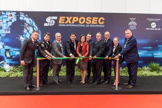 Presidente do SEMEESP participa da abertura oficial da Exposec 2018
