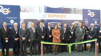Presidente do Semeesp, Autair Iuga, participa da abertura oficial da Exposec 2017