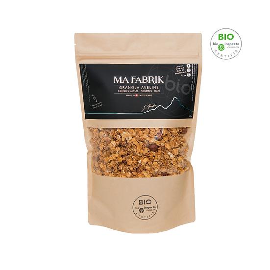 Granola Aveline - céréales Suisses - noisettes - miel