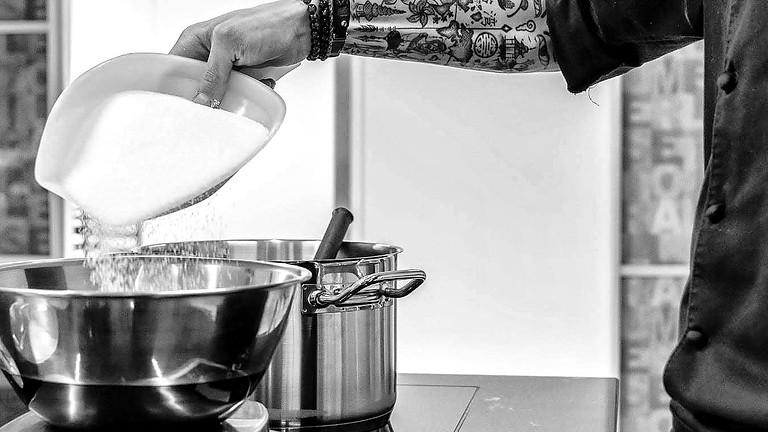 Cours pâtisserie (Thème: Rhubarbe - vanille - génépi)