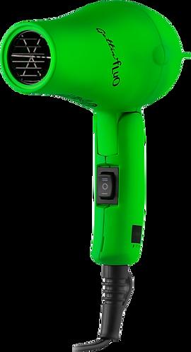Mini Secador de Viaje Verde Flúor